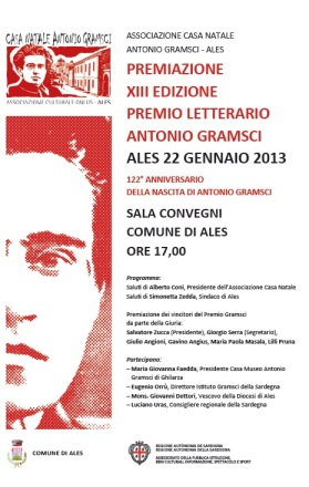 Premiazione XIII edizione premio letterario Antonio Gramsci