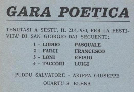 gara poetica