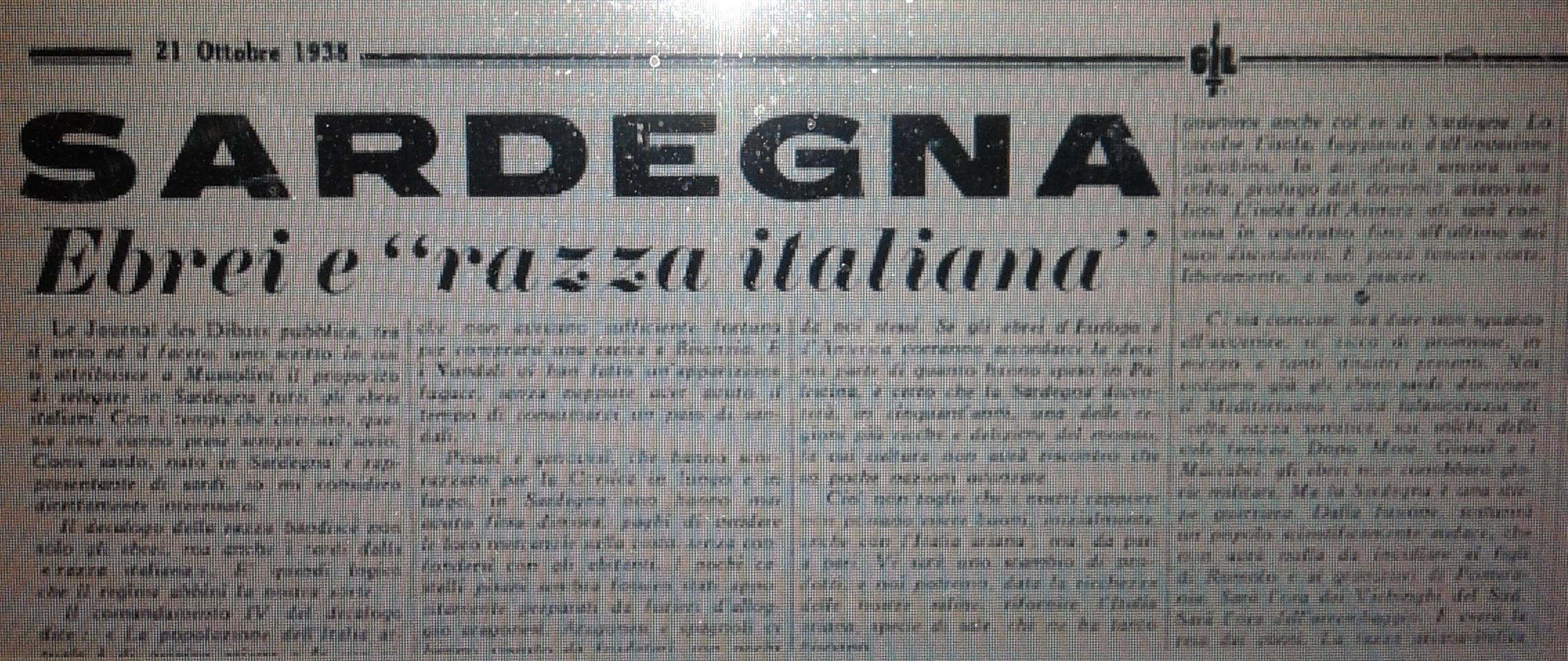 Le leggi razziste del 1938 il semita emilio lussu e la for Chi fa le leggi in italia