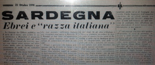 Le leggi razziste del 1938: il semita Emilio Lussu, e la Sardegna ariana di Lino Businco.
