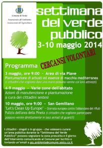 Settimana del verde pubblico