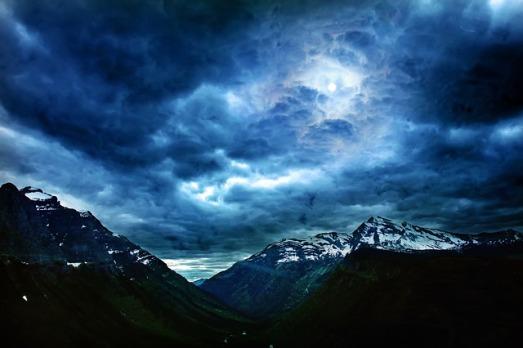 tempesta in montagna